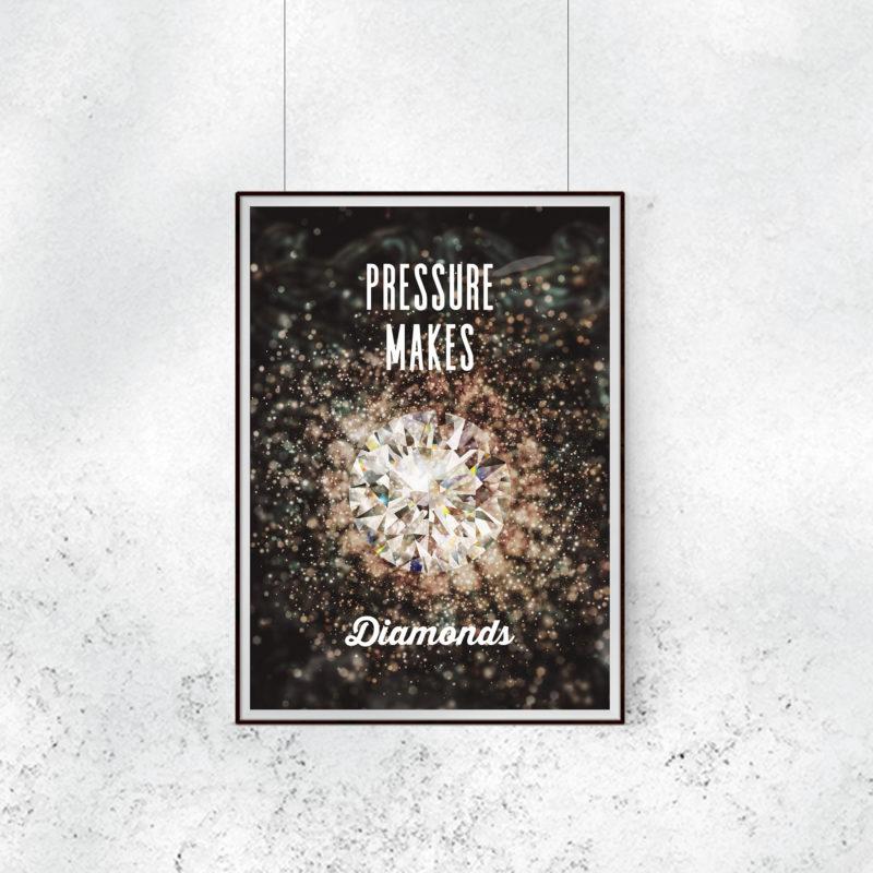 プレッシャーがダイアモンドを作る ポスター