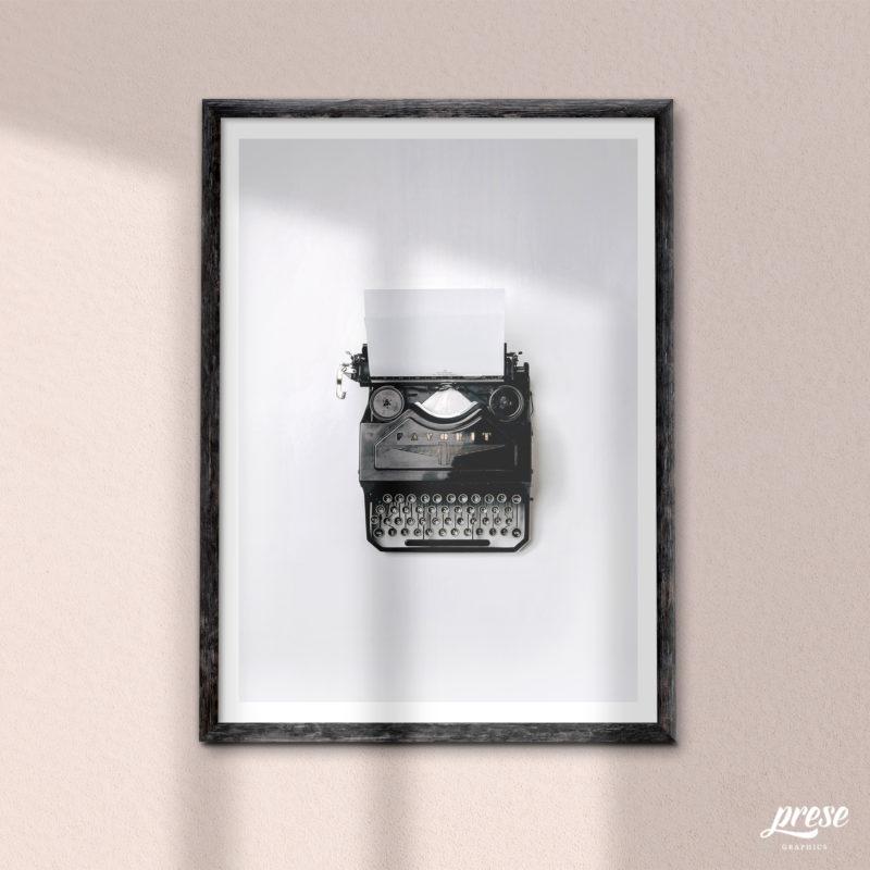 オールド タイプライター ポスター