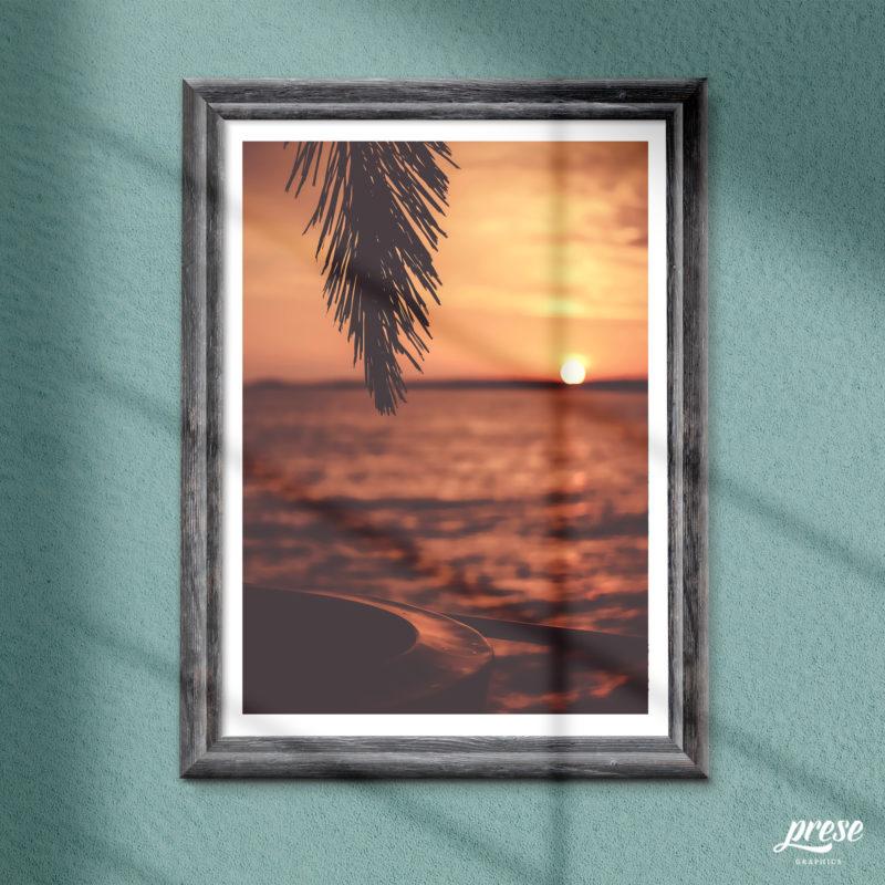 サンセット 夕日の海 ポスター